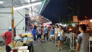 Crowd at the Phuket Sunday Night Market Thailand