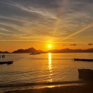 Sunset El Nido Palawan Outpost Beach Hostel