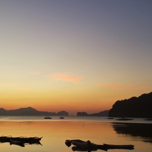 El Nido Palawan Philippines Outpost Beach Hostel Sunset